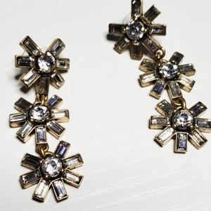 J Crew : Asterisk Dangle Earrings